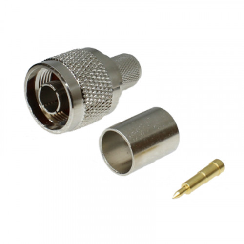 N-Type Male Crimp Connector for RG8 (220-1080K-070)