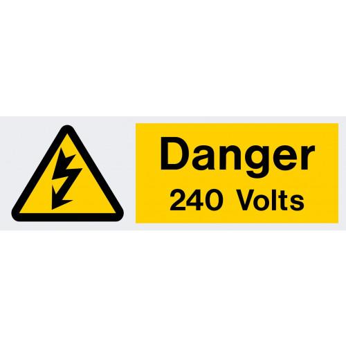 240 volt danger label 75x25 - Each