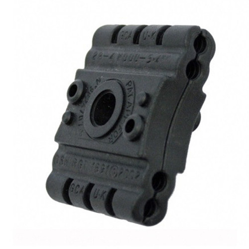 2P-4BW0005.4mm Two Piece 4 Way Black Clamp