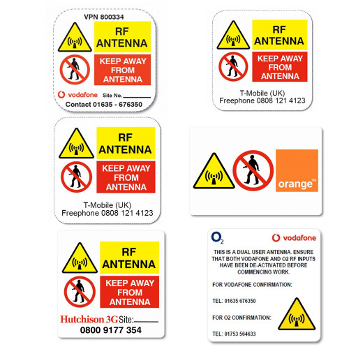 O2 RF Antenna Labels - 40 x 40mm - Reel of 1000