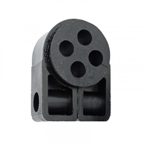 BW1.4-4 HOLE Black Cleat with Bung (4 x 10mm)