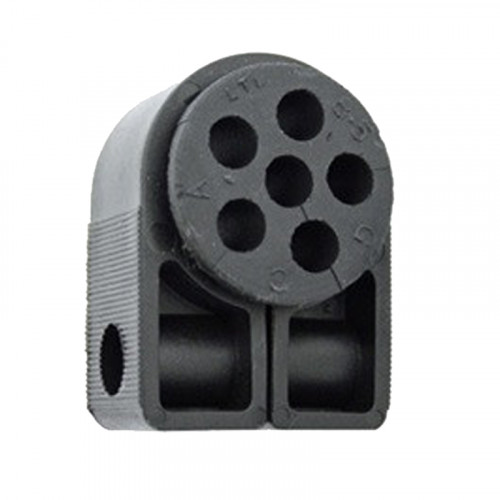 BW1.4-6 HOLE Black Cleat with Bung (6 x 8.5mm)