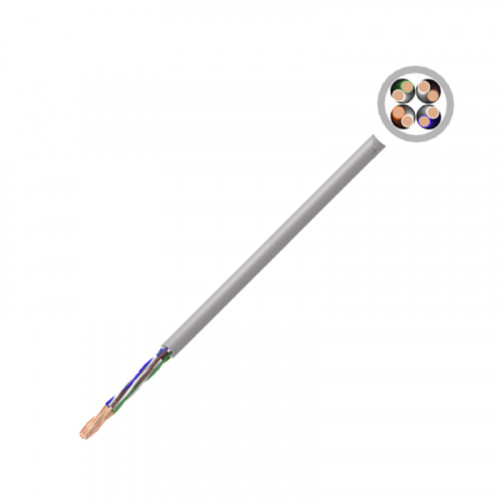 Cat 5e PVC U/UTP Solid Cable - Grey - Box of 305mtrs