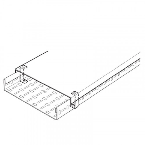 100mm Wide Medium Duty Pre-Galv Cable Tray Cover (3m)