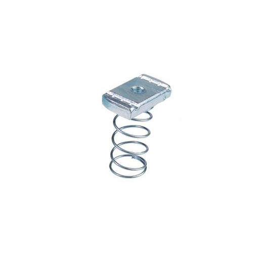 M10 Long Spring channel nuts to suit 41x41 - BZP