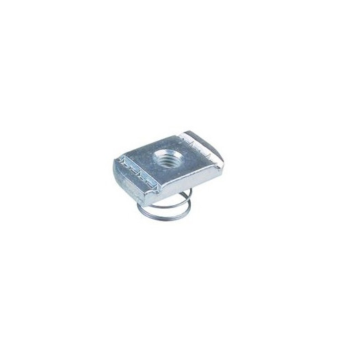 M10 Short Spring channel nuts to suit 21x41 - BZP