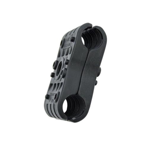 2P-DW0-11mm Double Black Clamp