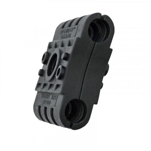 2P-DW1-13mm Double Black Clamp