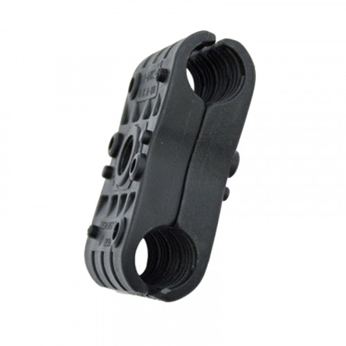 2P-DW18 Double Black Clamp for 18mm Cable