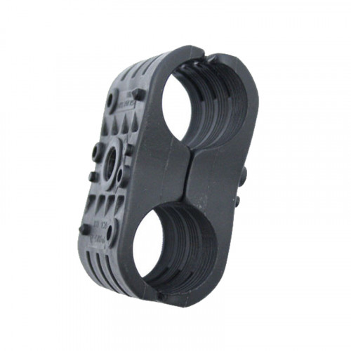 2P-DW23 Double Black Clamp for 23mm Cable