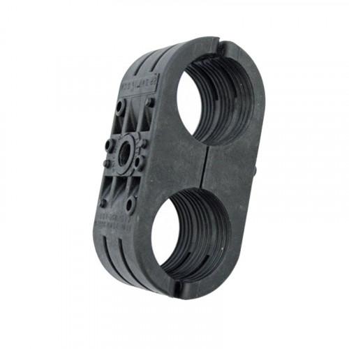 2P-DW7-1 1/4 Double Black Clamp