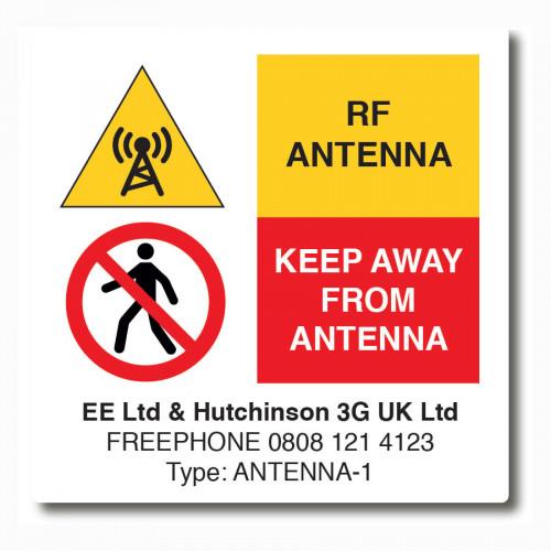 EE H3G RF Labels - 50 x 50mm - Reel of 1000