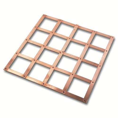 Solid Copper Lattice Mat 600x600 - 5 Bar Grid