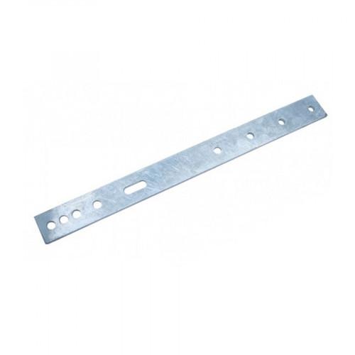 4 Hole Feeder Bracket - 525x50x8mm - Mild Steel Galvanised - to suit 48.3, 60.3, 76.1, 88.9, 114.3 & 139.7 pol
