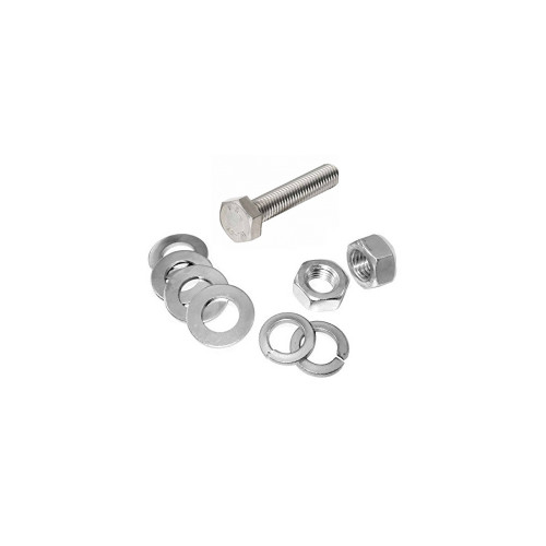 M10x30mm S/S Set Screws with Nuts, Flats & Spring Washers - Pack of 10
