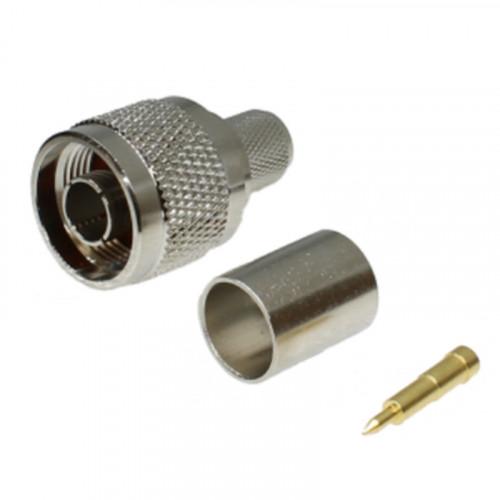 N-Type Male Crimp Connectors for RG213, RG393, URM67 (220-1123-070)