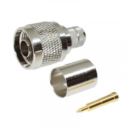N-Type Male Crimp Connectors for RG214 (220-1024-070)