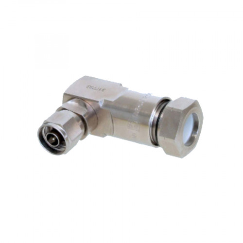 """RFS Connector N Male Right Angle premium for 1/2"""" LCF"""