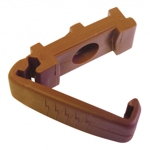 Brown Non Metallic Clips for 25 x 3mm PVC tape
