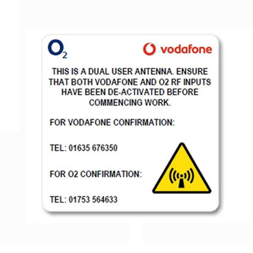O2/VF DUAL RF Antenna Labels - 40 x 40mm - Reel of 1000