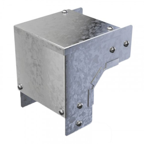 90 Degree Bend - External Lid - For 100 x 50mm - Steel Trunking