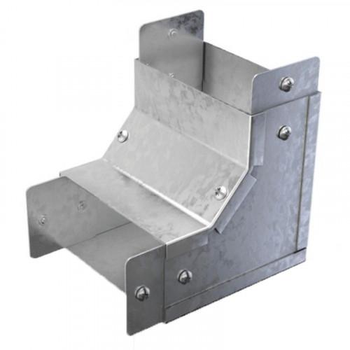 90 Degree Bend - Internal Lid - For 100 x 50mm - Steel Trunking