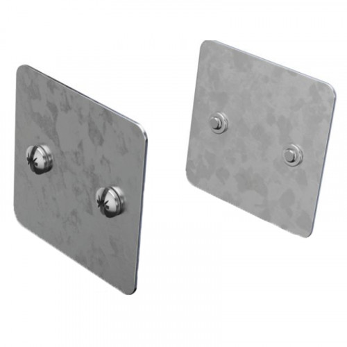 50mm x 50mm (2x2) - Spare Trunking Couplers (PACK OF 2)