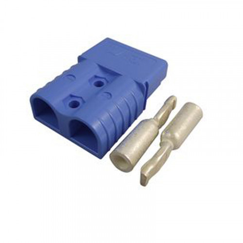 SB120 Anderson Blue (48v) Connector c/w 2 x 25mm Contacts