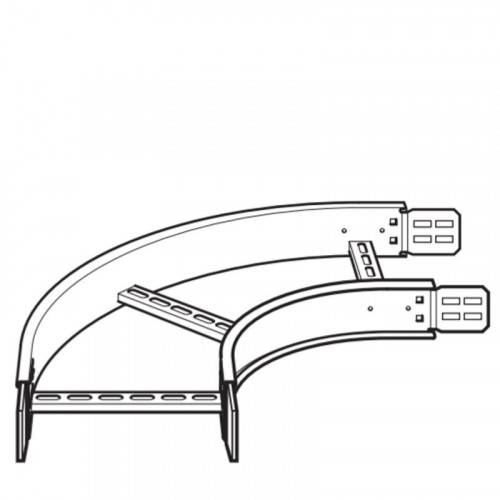 Legd ZFB15090300G Flat Bend 150mm Ladder Rack