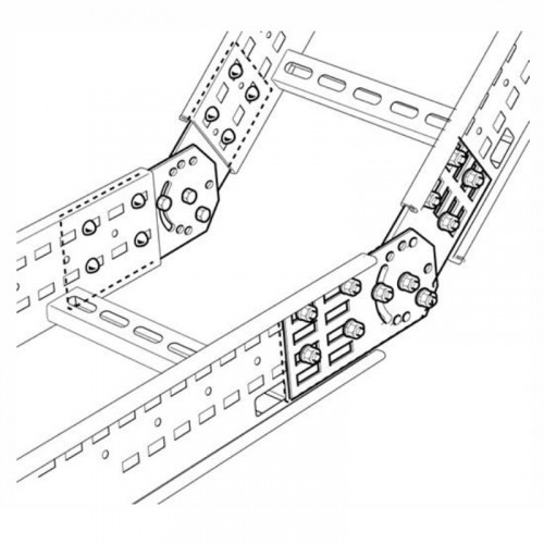 SWIFT Legrand - Cable Ladder Vertical Adjustable Coupler - Hot Dipped Galv - (PK = 4) - with Screws