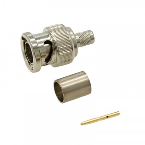 BNC Straight Crimp Plug to BNC Straight Crimp Plug - BT3002 White - 1m