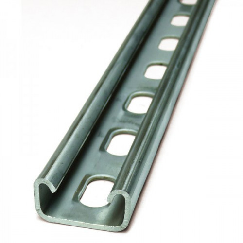 41 x 21mm Shallow Slotted 0.375mtr Channel - pre-galv (1.5mm guage)