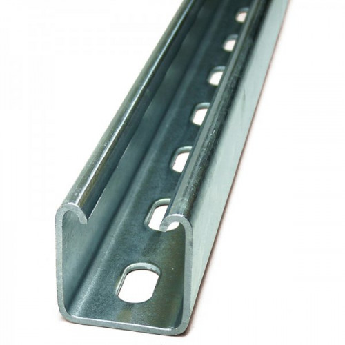 41 x 41 Deep Slotted 0.52mtr Channel - pre-galv (2.5mm guage)