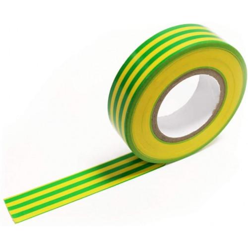 19mm Green & Yellow 3M PVC-Scotch Self Extinguishing Insulation Tape