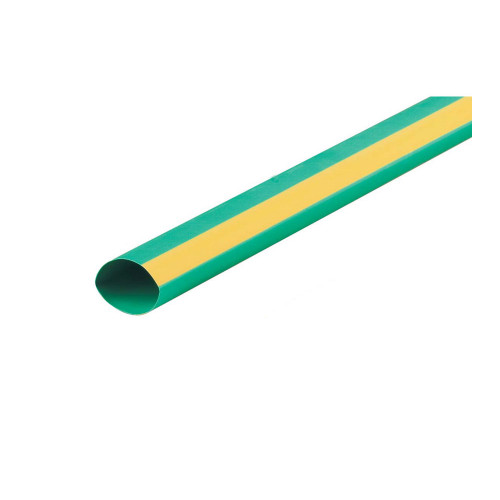 2:1 Green & Yellow Heat Shrink Tube 9.5mm (price per mtr)