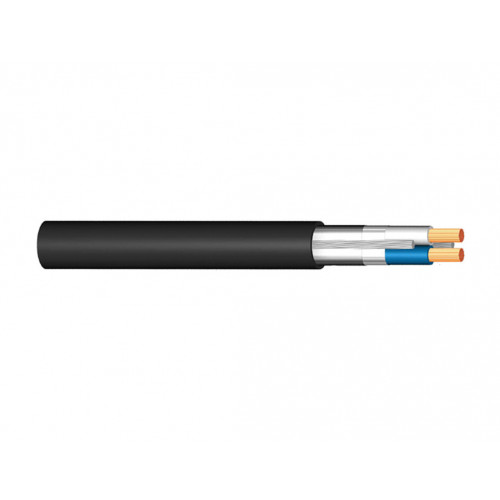 RLAFH 2x10mm2 DC cable - Black - Outdoor Grade (Blue/Grey Cores)